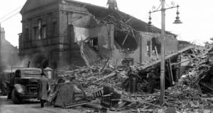 Newtownards Road Methodist Church after the Belfast 'Blitz' of Easter Tuesday 1941